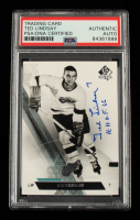 """Ted Lindsay Signed 2013-14 SP Authentic #142 Inscribed """"H.H.O.F. 66"""" (PSA Encapsulated) at PristineAuction.com"""