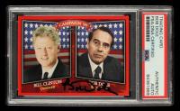 Bob Dole Signed 2008 Topps Historical Campaign Match-Ups #1996 Bill Clinton / Bob Dole (PSA Encapsulated) at PristineAuction.com