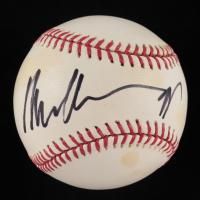 Arnold Schwarzenegger Signed OML Baseball (PSA COA) at PristineAuction.com