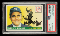 Rudy Giuliani Signed 2004 Topps All-Time Fan Favorites #51 (PSA Encapsulated) at PristineAuction.com