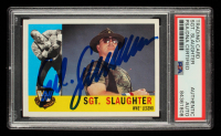 Sgt. Slaughter Signed 2005 Topps Heritage WWE #86 L (PSA Encapsulated) at PristineAuction.com