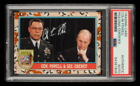 Colin Powell Signed 1991 Desert Storm Topps #158 Gen. Powell & Sec. Cheney (PSA Encapsulated) at PristineAuction.com