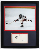 Mike Eruzione Signed Team USA 12x15 Custom Framed Cut Display (JSA Hologram) (See Description) at PristineAuction.com