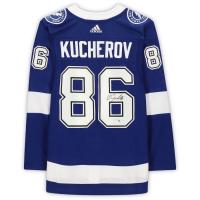 Nikita Kucherov Signed Lightning Jersey (Fanatics Hologram) at PristineAuction.com
