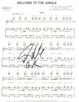 "Steven Adler Signed Guns N' Roses ""Welcome to the Jungle"" Sheet Music 8x10 Print Inscribed ""GR"" (JSA COA) at PristineAuction.com"
