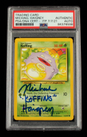 """Michael Haigney Signed 1999 Pokemon Base Unlimited #51 Koffing Inscribed """"Koffing"""" (PSA Encapsulated) at PristineAuction.com"""