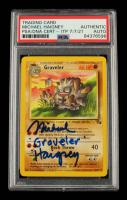 "Michael Haigney Signed 1999 Pokemon Fossil Unlimited #37 Graveler Inscribed ""Graveler"" (PSA Encapsulated) at PristineAuction.com"