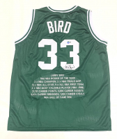 Larry Bird Signed Career Highlight Stat Jersey (Beckett Hologram) at PristineAuction.com