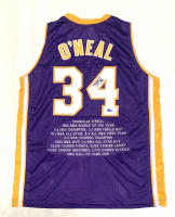 Shaquille O'Neal Signed Career Highlight Stat Jersey (Beckett Hologram) at PristineAuction.com