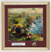 "Thomas Kinkade ""Mickey & Minnie Mouse"" 16x16 Custom Framed Print Display with Pin at PristineAuction.com"