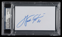 Walter Payton Signed Index Card (PSA Encapsulated) at PristineAuction.com