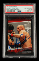 Randy Couture Signed 2010 Topps UFC #16A (PSA Encapsulated) at PristineAuction.com