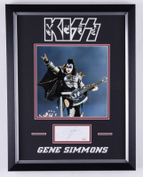 Gene Simmons Signed KISS 14x18 Custom Framed Cut Display (JSA COA) at PristineAuction.com