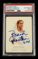 """Brandi Chastain Signed 2006 Topps Allen and Ginter #304 Inscribed """"6 USA"""" (PSA Encapsulated) at PristineAuction.com"""