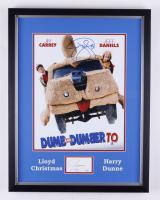 "Jim Carrey & Jeff Daniels Signed ""Dumb and Dumber 2"" 17x22 Custom Framed Cut Display (JSA COA & Beckett COA) at PristineAuction.com"