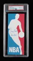 """Jerry West Signed NBA Decal Sticker Inscribed """"The Logo"""" (PSA Encapsulated) at PristineAuction.com"""