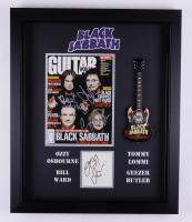 Black Sabbath 20x24 Custom Framed Photo/Cut Display Band-Signed by (4) with Ozzy Osbourne, Tony Iommi, Geezer Butler, & Bill Ward (JSA COA) (See Description) at PristineAuction.com