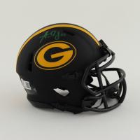 Aaron Jones Signed Packers Eclipse Alternate Speed Mini Helmet (Beckett Hologram) at PristineAuction.com