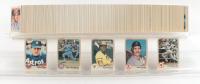 1983 Fleer Complete Set of (660) Baseball Cards with #70 Cal Ripken Jr. , #463 Nolan Ryan, #360 Tony Gwynn RC, #179 Wade Boggs RC, #507 Ryne Sandberg RC at PristineAuction.com
