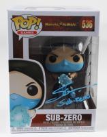 "Steve Blum Signed ""Mortal Kombat"" #536 Sub-Zero Funko Pop! Vinyl Figure Inscribed ""Sub-Zero"" (JSA COA) at PristineAuction.com"