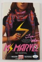 "Iman Vellani Signed 2014 ""Ms. Marvel"" Trade Paperback Volume #1 Marvel Comic Book (JSA COA) (See Desciption) at PristineAuction.com"