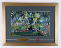 """LeRoy Neiman """"Oakmont Country Club"""" 16x20.5 Custom Framed Print Display with (1) Vintage Oakmont U.S. Open Pin (See Description) at PristineAuction.com"""
