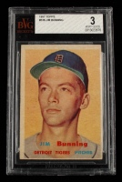 Jim Bunning 1957 Topps #338 RC (BVG 3) at PristineAuction.com