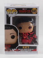 """Awkwafina Signed """"Shang-Chi and the Legend of the Ten Rings"""" #845 Katy Funko Pop Vinyl Figure Inscribed """"KATY"""" (Beckett Hologram) (See Description) at PristineAuction.com"""
