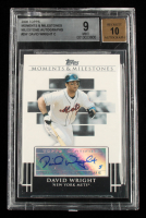 David Wright 2008 Topps Moments and Milestones Milestone Autographs #DW (BGS 9) at PristineAuction.com