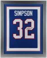 O. J. Simpson Signed 27.5x33.5 Custom Framed Jersey Display (JSA COA) at PristineAuction.com