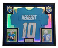 Justin Herbert Signed 35x42 Custom Framed LED-Backlit Jersey Display (Beckett COA) at PristineAuction.com
