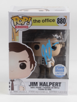 "John Krasinski Signed ""The Office"" #880 Jim Halpert Funko Pop! Vinyl Figurine (Beckett Hologram) (See Description) at PristineAuction.com"