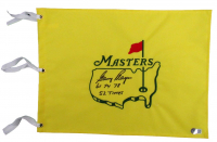 """Gary Player Signed Masters Golf Pin Flag Inscribed """"61, 74, 78"""" & """"52 Times"""" (Beckett COA) at PristineAuction.com"""
