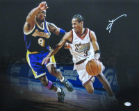 Allen Iverson Signed 76ers 16x20 Photo (PSA COA) at PristineAuction.com