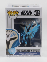 "Katee Sackhoff Signed ""Star Wars"" #412 Bo-Katan Kryze Funko Pop Vinyl Figure (Beckett COA) (See Description) at PristineAuction.com"