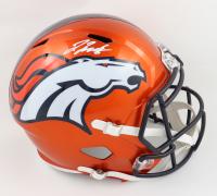 Jerry Jeudy Signed Broncos Full-Size Flash Alternate Speed Helmet (Beckett Hologram) at PristineAuction.com