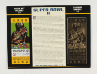 1968 Commemorative Super Bowl II Card with Ticket: Packers vs Raiders at PristineAuction.com
