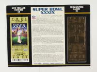 2005 Commemorative Super Bowl XXXIX Card with Ticket: Patriots vs Eagles at PristineAuction.com