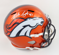 Noah Fant Signed Broncos Full-Size Flash Alternate Speed Helmet (Beckett Hologram) at PristineAuction.com