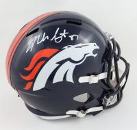 Noah Fant Signed Broncos Full-Size Speed Helmet (Beckett Hologram) at PristineAuction.com