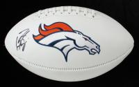Peyton Manning Signed Broncos Logo Football (Radtke COA) at PristineAuction.com