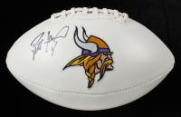 Brett Favre Signed Vikings Logo Football (Radtke COA) at PristineAuction.com