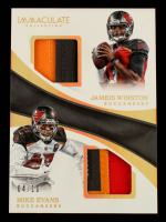 Jameis Winston / Mike Evans 2017 Immaculate Collection Dual Jerseys Prime Gold #32 #4/10 at PristineAuction.com