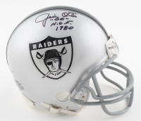"Jim Otto Signed Raiders Throwback Mini Helmet Inscribed ""H.O.F. 1980"" (Beckett COA) (See Description) at PristineAuction.com"