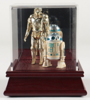 """Set of (2) Original 1977 Hasbro """"Star Wars"""" Action Figures with R2D2 & C-3PO with Display Case (See Description) at PristineAuction.com"""