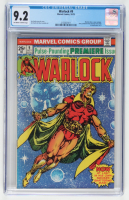 """1975 """"Warlock"""" Issue #9 Marvel Comic Book (CGC 9.2) at PristineAuction.com"""