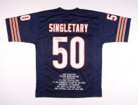"Mike Singletary Signed Career Highlight Stat Jersey Inscribed ""HOF 98"" (JSA COA) at PristineAuction.com"