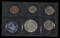 1965 U.S. Mint Uncirculated Coin Set with (6) Coins & Envelope at PristineAuction.com