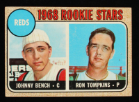 Johnny Bench / Ron Tompkins 1968 Topps #247A Rookie Stars RC at PristineAuction.com