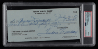Ted Williams Signed 1987 Personal Bank Check (PSA Encapsulated) at PristineAuction.com